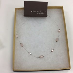 Silpada Pink and Pearl Rose Quartz Necklace